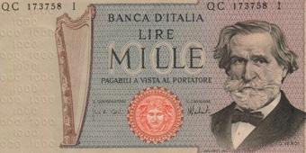 Верди 1000 лир